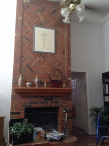 We are thrilled with our fireplace, from hearth to ceiling.